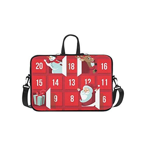 Christmas adventskalender weihnachtsmann Rentiere Muster Koffer Laptop Tasche Messenger Schulter Tasche Crossbody Handtasche für geschäftsreisen