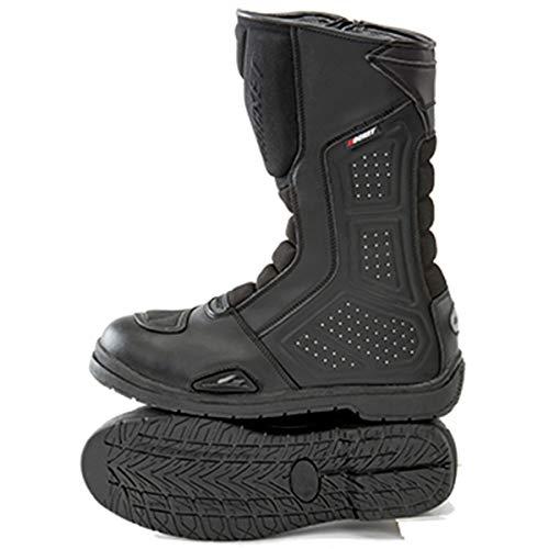 Joe Rocket Sonic R Men's Leather Touring Motorcycle Boots - Black/Black/Size 9