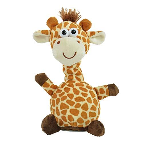 Kögler 75661 Laber Giraffe Fleckchen, Labertier mit Aufnahme-und Wiedergabefunktion, plappert Alles witzig nach und bewegt Sich, ca. 24 cm groß, Jungen und Mädchen