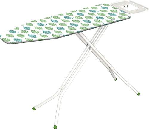 GIMI Green Line Andy ASSE da Stiro, con Portacaldaia, Regolabile in Altezza, Acciaio, Bianco, Piano Stiro 126 x 45 cm, 154.5 x 45 x 94 cm