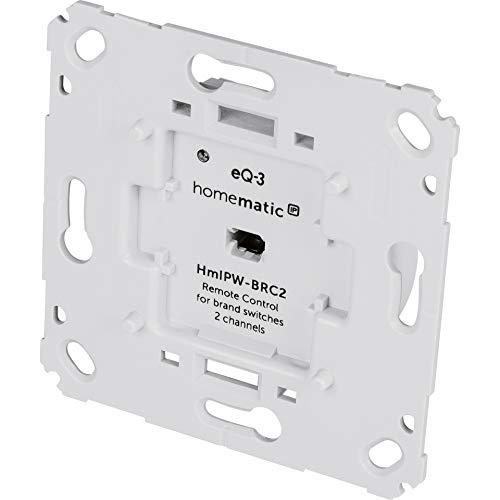 Homematic IP Wired Smart Home Wandtaster für Markenschalter HmIPW-BRC2, 2-Fach