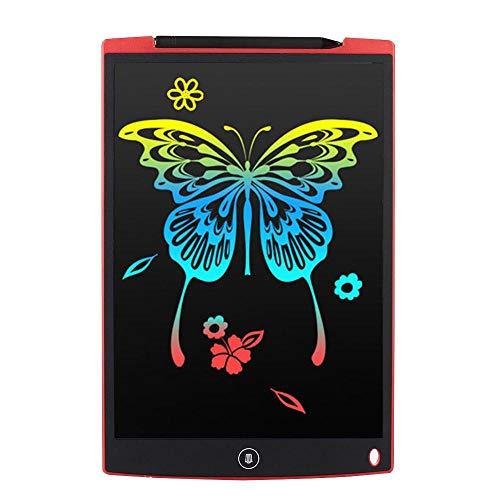 Fighrh Dibujo en color LCD de 12 pulgadas Tableta de escritura LCD Dibujo digital Electrónico ultrafino Sensible Cojín de escritura Borrar Mensaje Tablero de gráficos Tablero de escritura para niños R