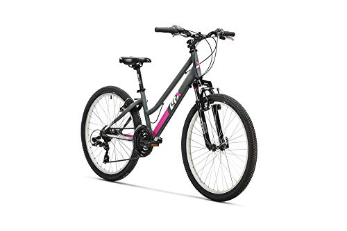 "AFX Bicicleta MTB Junior Mixta 24"" Rohan, Color Gris/Rosa"
