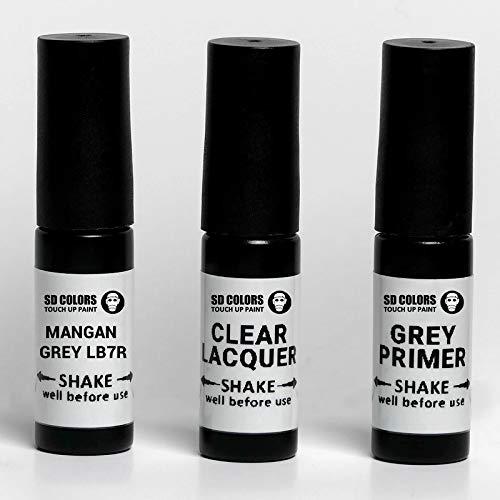 SD COLORS Mangan Grey LB7R / B7R Ausbesserungslack, 5 ml, praktischer Pinsel zur Reparatur von Kratzern (Farbe + Grundierung + Lack)