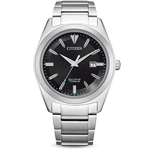 Citizen Reloj Analógico para de los Hombres de Cuarzo con Correa en Titanio AW1640-83E