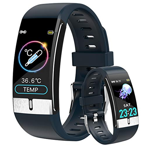 Smartwatch ECG Orologio Intelligente Fitness Tracker Donna, Temperature Smart Watch Uomo Impermeabile Ip68 Intelligente Orologio Contapassi Braccialetto Contapassi Cardiofrequenzimetro per Android iOS