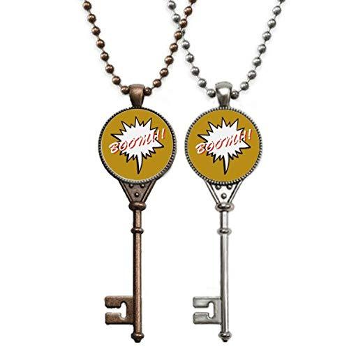 OFFbb-USA Linguagem diária chat emoção chaveiro colar pingente joias decoração casal