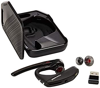 Plantronics - Voyager 5200 UC  Poly  - Bluetooth Single-Ear  Monaural  Headset - USB-A Compatible to connect to your PC and/or Mac - Works with Teams Zoom & more - Noise Canceling