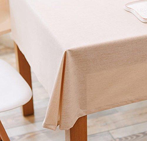 Nappe De Coton De Couleur Unie Imperméable À L'eau Tache-Résistant Tissu De Table Table Basse Tissu Rectangulaire Tissu Nappe,130*200Cm
