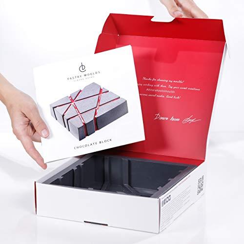 Molde de silicona para mousse, molde cuadrado y redondo, 20 cm, forma de corazón para hornear y congelar (bloque de chocolate)