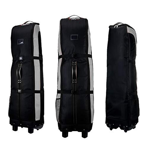 PGM Golf Travel Bag Cover Rädern–--- Double Deck, dicker, wasserdicht Nylon, mit Boden, Schwarz / Grau