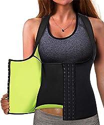 powerful Eleady Vest Neoprene Waist Trainer Corset Sweatshirt Vest Weight Loss Body Shaper Training Tops…