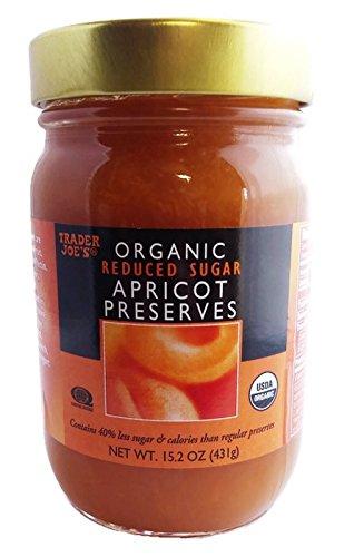 Trader Joe's Organic Apricot Preserves, Reduced Sugar, 15.2oz/431gr