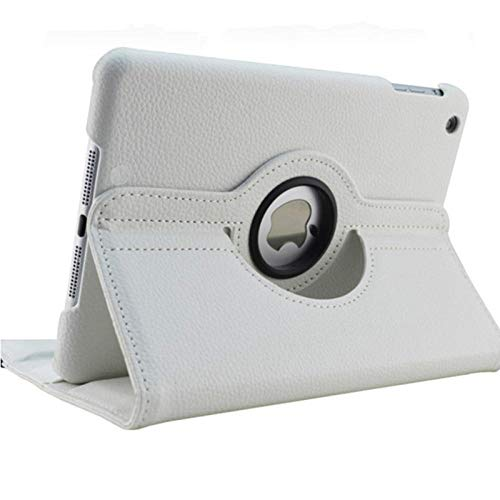 For iPad 3 A1416 A1430 A1403 Cover 360 Degree Rotation PU Leather for ipad case 3 2012 Release Stand Holder Case-for iPad 2 3 4 white