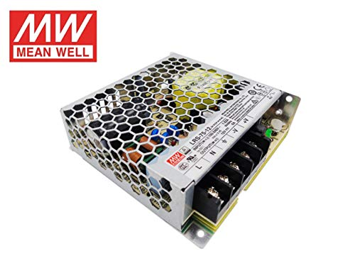 Fuente de alimentacion 75W 12V 6A Mean Well Enclosed LRS-75-12 Power Supply AC/DC