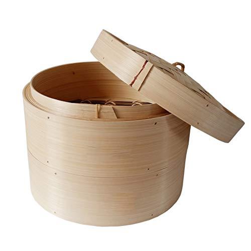 Cuisson Vapeur Bambou Poissons Riz Aux Légumes Snack Basket Set Cuisine Ustensiles de Cuisine Boulette De Cuisson Vapeur Pot À Vapeur (Taille : 30 cm)
