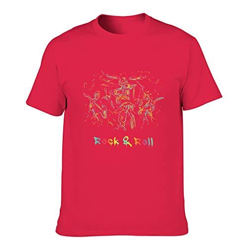 FFanClassic Camiseta de algodón para hombre Rock & Roll Cool Individualidad Ligero - Patrón Tops