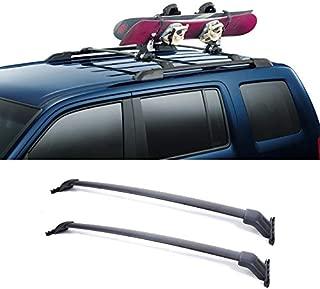 VIOJI 2pcs Black Aircraft Aluminum Roof Rack Cross Bars + Brackets + Mounting Hardwares Fit 09-15 Honda Pilot