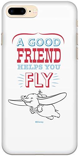 Carcasa de TPU Original Disney Dumbo para iPhone 7 Plus, iPhone 8 Plus, Funda de Silicona líquida, Flexible y Delgada, Protectora para Pantalla, a Prueba de Golpes y antiarañazos