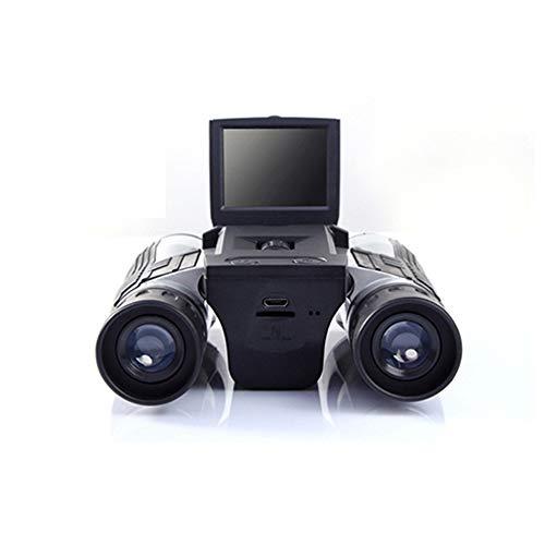 Eoncore 2 LCD Display Digital Camera Binoculars 12x32 5MP Video Photo Recorder Digital Camera Telescope for Watching Bird, Football Game with 8GB TF Card-black-1232