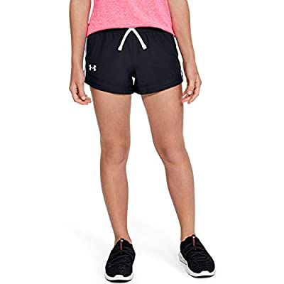 Under Armour Girls' Sprint Shorts , Black (001)/White , Youth X-Large