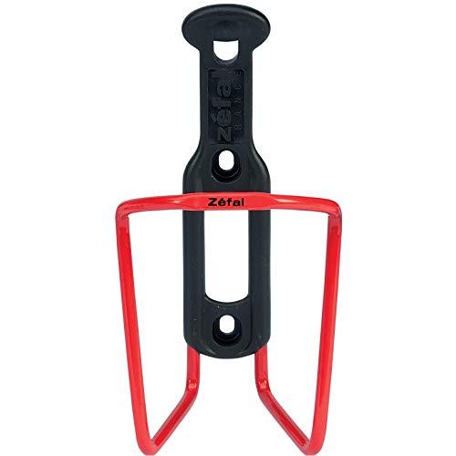 Zéfal Aluplast, Porte vélo Aluminium, 7 Couleurs Unisex-Adult, Rouge, Universel (pour bidon de cyclisme de diamètre 75 mm)