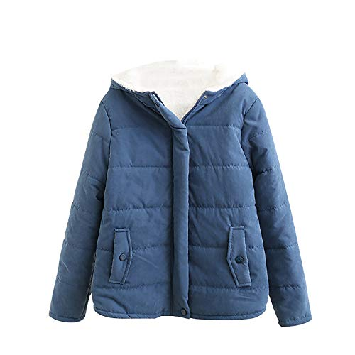 MRULIC Damen Kapuzenjacke Kapuzenpullover Sweatshirt Langarm Warm Bequem Herbst Winter Mantel Jacke Tops Hoodie Sportswear Trenchcoat Outing Stil Frauen Outwear(Blau,XL)
