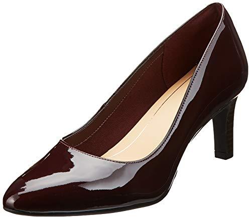 Clarks Calla Rose, Zapatos Tacón Mujer, Marrón Burgundy
