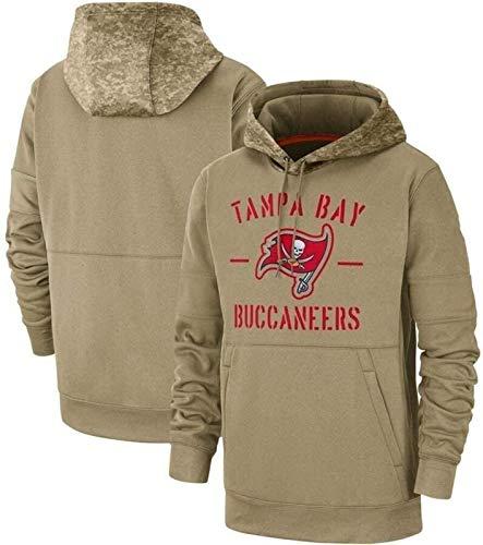 Sudadera con capucha NBA Jersey de fútbol, sudaderas con capucha para hombre - Tampa Bay Buccaneers Equipo de fútbol Logotipo primario Sudadera Sudadera con capucha superior (Tamaño: Grande) - unise