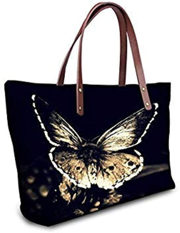 2f9386f69 Bloomerang TWOHEARTSGIRL Pretty Butterfly Women Bag Large Capacity Ladies  Handbag Tote Bags Black Top-Handle
