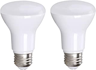 2-Pack BR20 R20 LED Bulb, Bioluz LED Dimmable BR20 7W (50 Watt Replacement) Soft White (3000K) Indoor/Outdoor Floodlight LED Bulbs Medium Base (E26) UL Listed (Pack of 2)