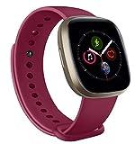 Muhe Correa Compatible con Apple Watch 38mm 42mm 40mm 44mm, Pulsera Repuesto de Silicona Suave para iWatch Series 6 5 4 3 2 1, Mujer y Hombre (38mm/40mm S/M, Vino Rojo)
