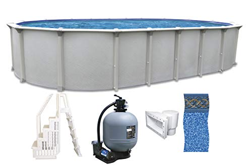 COLOMBIA 18' x 33' x 54' Round Above Ground Swimming Pool Platinum Package