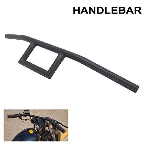"""USTPO Manillar de Motocicleta 7/8""""Cafe Racer Box Window Attack Style Manillar 22MM Universal para Cruiser Bobber Aplicación Personalizada Negro"""