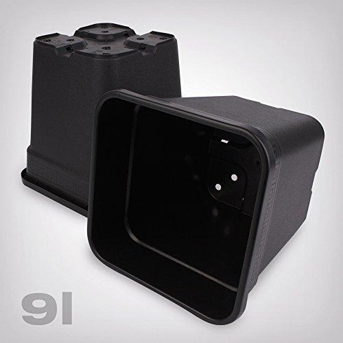Pflanztopf Kunststoff viereckig/schwarz, 9 Liter