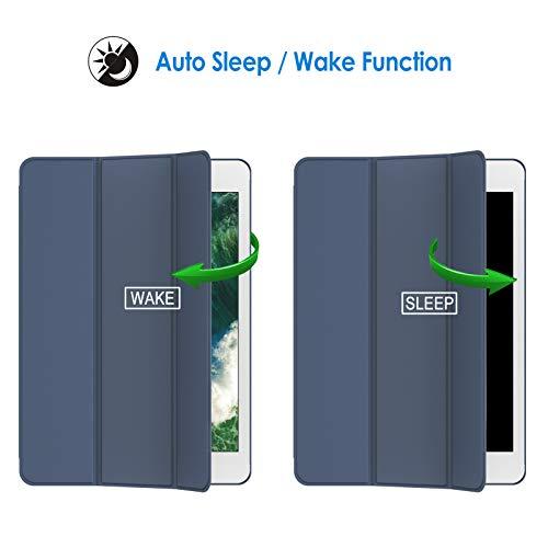 JETech Hülle Kompatibel iPad Air (2013 Modell), Schutzhülle mit Ständer Funktion und Auto Schlaf/Wachen, Navy Blau