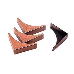 Eforlike 4 Piece Antique Metal Box Corner Protector Edge Safety Guard Cabinet Furniture Corner Metal Bumpers