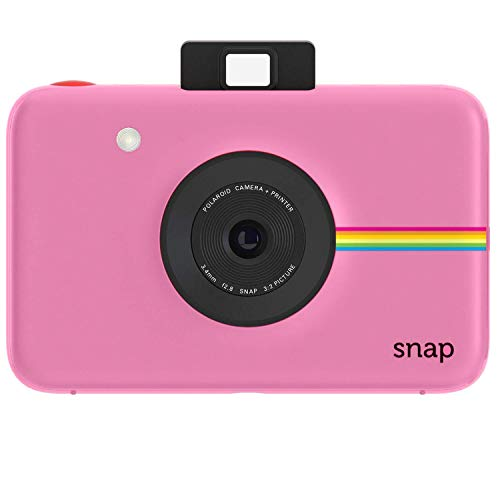 Polaroid Snap - Cámara digital instantánea, tecnología de impresión Zink Zero Ink, 10 Mp, Bluetooth, micro SD, fotos de 5 x 7.6 cm, rosa
