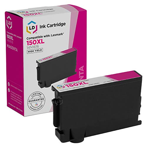 LD Compatible Ink Cartridge Replacement for Lexmark 150XL High Yield (Black, Cyan, Magenta, Yellow, 4-Pack)