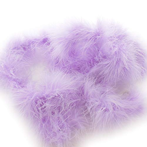 Skinny Marabou Feather Boa - 2 Yards - Light Lavender