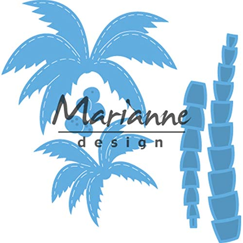 Marianne Design Creatables, Palmen, Präge-und Stanzschablone für Handwerksprojekte, Blau