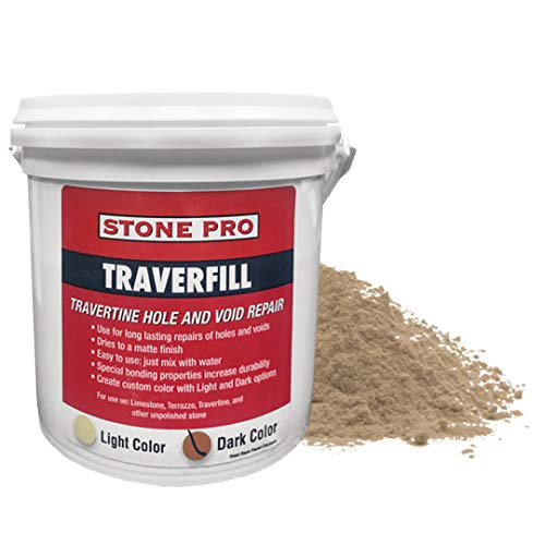 StonePro – Traverfill Dark (1 Lb.) (for Repairing Holes in Travertine)