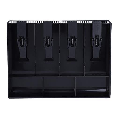 Inserto per registratore di cassa Vobor, inserto per registratore di cassa nero Cassetta di ricambio per contanti(Nero)