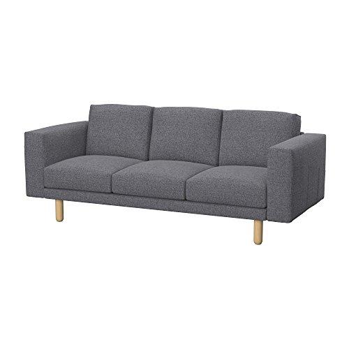 Soferia - IKEA NORSBORG Funda para sofá de 3 plazas, Naturel Grey
