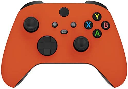 eXtremeRate Orange Replacement Front Housing Shell for Xbox Series X Controller Soft Touch Custom product image