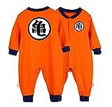 Baby Jumpsuit Dragon Ball Goku Kostüm Baby Strampler Cardigan Nette Onesies Baumwolle Jumpsuit