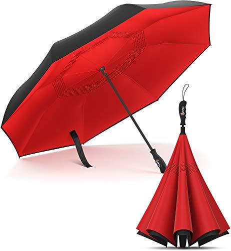 Repel Umbrella Reverse Umbrella - Upside Down Inverted Reversible Wind...