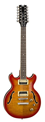 Dean BOCA 12 String Semi Hollow Body Electric Guitar Trans Cherry Sun Burst