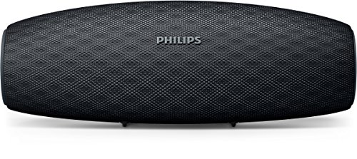 Philips Everplay BT7900B - Altavoz Bluetooth (Potente y portátil de pie, Resistente al Agua, con micrófono, Correa USB) Color Negro