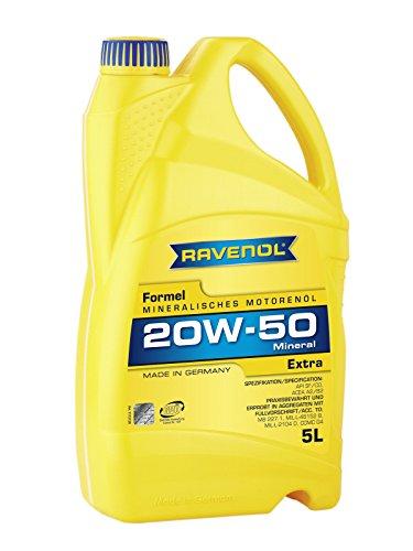 RAVENOL Formel Extra SAE 20W-50 / 20W50 Mineralisches Motoröl (5 Liter)